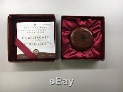 1999 PERTH MINT CENTENARY SOVEREIGN PROOF 22CT GOLD FINE SILVER RIM with COA & OGP