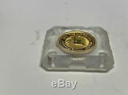 1999 The Australian Nugget 1/10 Oz 9999 Gold 15 Dollars Elizabeth II Australia