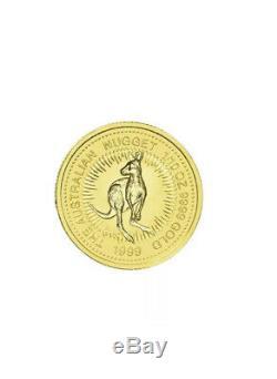 1999 The Australian Nugget / Kangaroo Series 1/10oz. 9999 Gold Bullion Coin PM