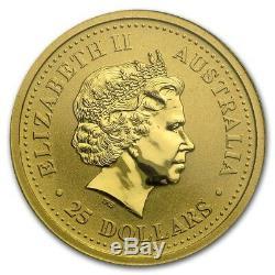 1999 The Australian Nugget Series 1/4oz. 9999 Gold Bullion Coin The Perth Mint