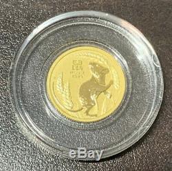 1/10 Oz Australian Lunar Series III Mouse Gold Coin