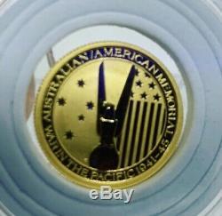 1/10 oz 2013 Gold Australian/American Memorial War In The Pacific 1941-45