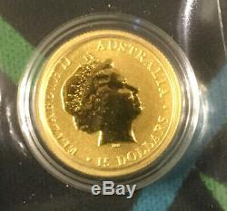 1/10 oz. 2016.9999 Australian Kangaroo Gold Coin Round (A)