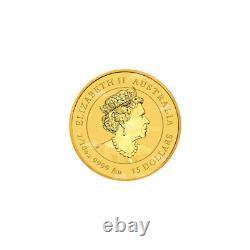 1/10 oz 2022 Perth Mint Australian Lunar Year of the Tiger Gold Coin
