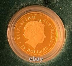 1/10 oz GOLD Lunar Series I 2001 Year of the Snake coin