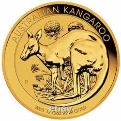 1/10 oz Gold Coin 2021 Kangaroo Perth Mint Australian $15 Coin