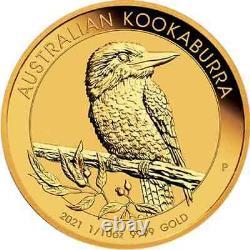 1/10 oz Gold Coin 2021 Kookaburra Perth Mint Australian $15 Coin