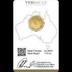 1/10oz Royal Australian Mint Kangaroo Minted Coin Gold