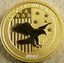 1/10th Oz Gold VICTORY IN THE PACIFIC 2017 AUSTRALIAN $15 COIN LOVELY
