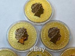 1 1 Oz. 999 Gold Australia 2000 Lunar Dragon Rare Orignal Capsule Low Mintage