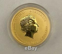 1/20 Troy Oz 2008 Australian Lunar Series II Mouse (Rat) Gold Coin (Perth Mint)