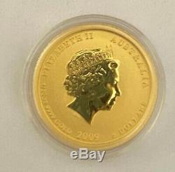 1/20 Troy Oz 2009 Australian Lunar Series II Ox Gold Coin (Perth Mint)