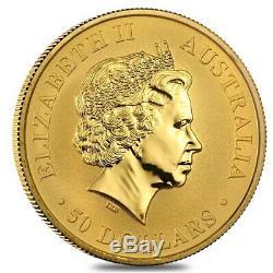 1/2 oz Australian Kangaroo/Nugget Gold Coin. 9999 Fine Proof/BU (Random Year)