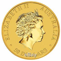 1/2oz Australian Gold Kangaroo Coin. 9999 BU (Random Date) Perth Mint