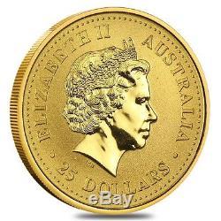 1/4 oz Australian Kangaroo/Nugget Gold Coin. 9999 Fine (Random Year)