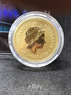 1/4 oz. Ounce Gold Australian Lunar Dragon Australia Series I Year 2000