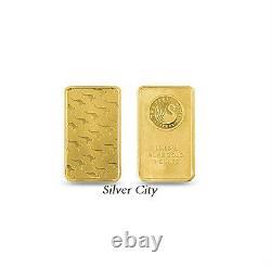 1 Ounce Perth Mint Kangaroo. 9999 Fine Gold Bar 1oz