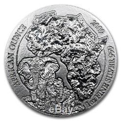 1 Ounce Silver Rwanda Elephant 2009 African Ounce 50 RWF
