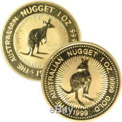 1 oz Australian Gold Nugget Coin (Random Year)