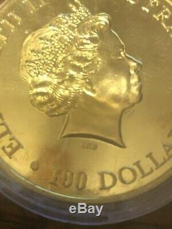 1 oz Gold $100 Australian Kangaroo 2015 withCase
