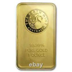 1 oz Gold Bar Perth Mint. 9999 Fine Gold (In Assay)