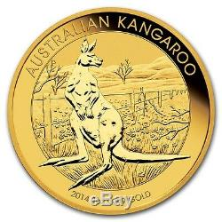 1 oz Random Year (Australia) Gold Australian Kangaroo $100 BU 9999