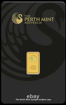 1g. 9999 Minted GOLD Bar + 1 Oz 2021.9999 Silver Bullion Coin Perth Mint COMBO