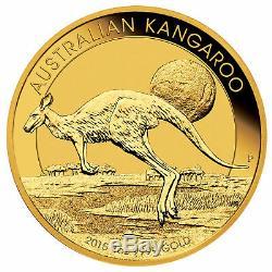 1oz Australian Gold Kangaroo Coin. 9999 Fine BU (Random Date)