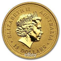2000 1/10 oz Gold Australian Perth Mint Lunar Year of the Dragon Coin Series 1