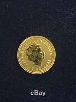2000 $5 Australia Year of the Dragon 1/20th oz Fine Gold