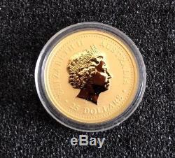2000 AUSTRALIA GOLD LUNAR DRAGON 5 Coin Set Very Rare Uncirculated 2Oz 1/20oz