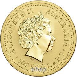 2000 Australia Gold Lunar Series I Year of the Dragon 1 oz $100 BU