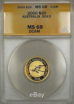 2000 Australia Nugget $25 Dollar Gold Coin ANACS MS-68 DCAM GEM SB