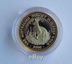 2000 Australian 1/4oz Gold Kangaroo Proof Coin Free Postage in Australia