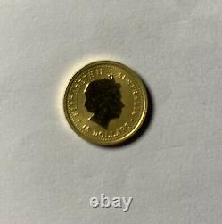 2000 Australian Gold Coin Year of the DRAGON 1/10 oz Lunar Series 1 BU / $15