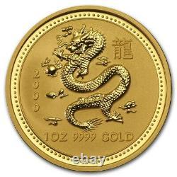 2000 Australian Gold Lunar Series I Year of The Dragon 1 oz $100 (BU) Series 1