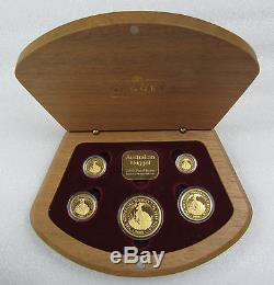 2000 Australian Nugget 5- Coin Gold Proof Set (1.9 oz. 9999 Gold) Rare only 600