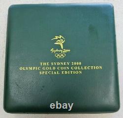 2000 GOLD SYDNEY AUSTRALIA 7 PROOF OLYMPIC $100 DOLLAR 2.25ozs COIN SET\