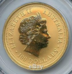 2000 PCGS Ground Zero Rec Gem Uncirc Australia $100 1 oz. 9999 Gold Coin AN5444S