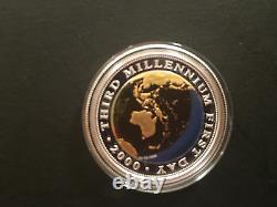 2000 The Australia 2000 Bi-Metal Millennium Coin $20 Gold/Silver