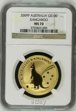 2000p australia ms70 gold kangaroo ounce $100 NGC coin grade perfect rating slab