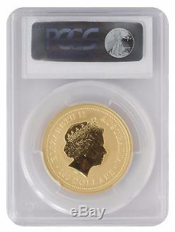 2001 1oz Gold Australian Lunar Snake Series 1 MS69 PCGS (#796)