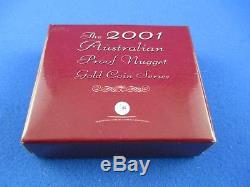 2001 $25 AUSTRALIAN NUGGET 1/4oz GOLD PROOF ISSUE COIN. A BEAUTY
