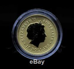 2001 Australia $15 The Australian Nugget Kangaroo 1/10oz Gold Coin 040DUD