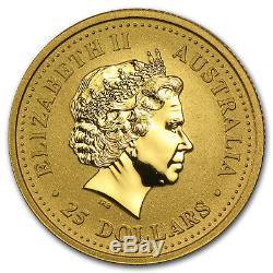 2001 Australia 1/4 oz Gold Lunar Snake BU (Series I) SKU #8984