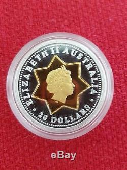 2001 Australian $20 Centenary of Federation Floral Emblems Gold Bi Metal Coin