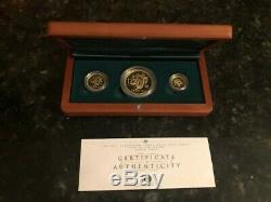 2001 Australian Lunar Gold series Year of the Snake Three-Coin Proof Set