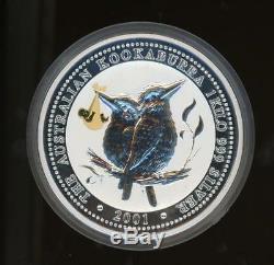 2001 Australian One Kilo Silver Kookaburra with Japan's Royal Baby Gold Privy