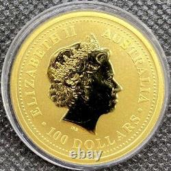 2002 1 oz $100 Gold Lunar Year of the Horse Australia Series I (BU) Series 1