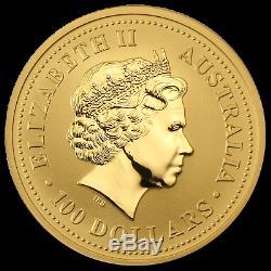 2002 Australia 1 oz Gold Lunar Horse BU (Series I) SKU #8981